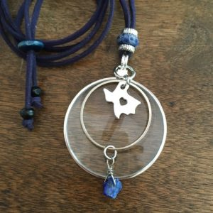 Magnifier necklace by Wendra Lynne