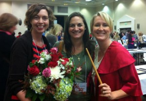 Amy Farrier, Samantha Clark and Shelley Ann Jackson, a few of the friends that help Samantha do amazing things.