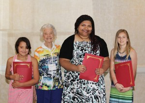 Austin SCBWI 2016 Betty X Davis Young Writers of Merit winners with Betty (2nd from l.)