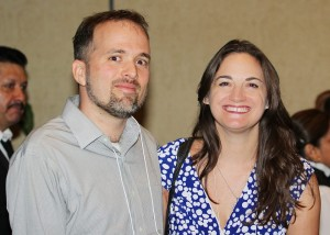 Austin SCBWI 2016 faculty member William Alexander and RA Samantha Clark.  Photo: Sam Bond